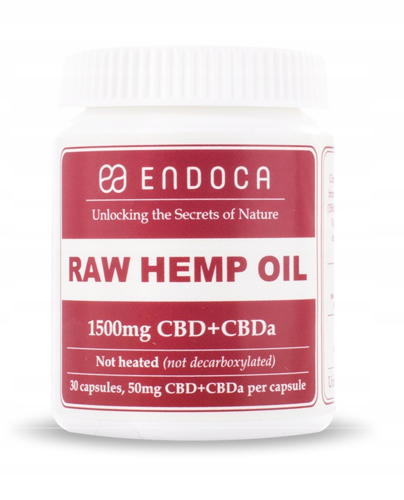 Endoca 1500mg Raw CBD CBDa 30szt